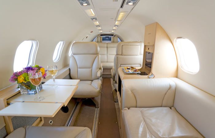 Learjet 35 interior