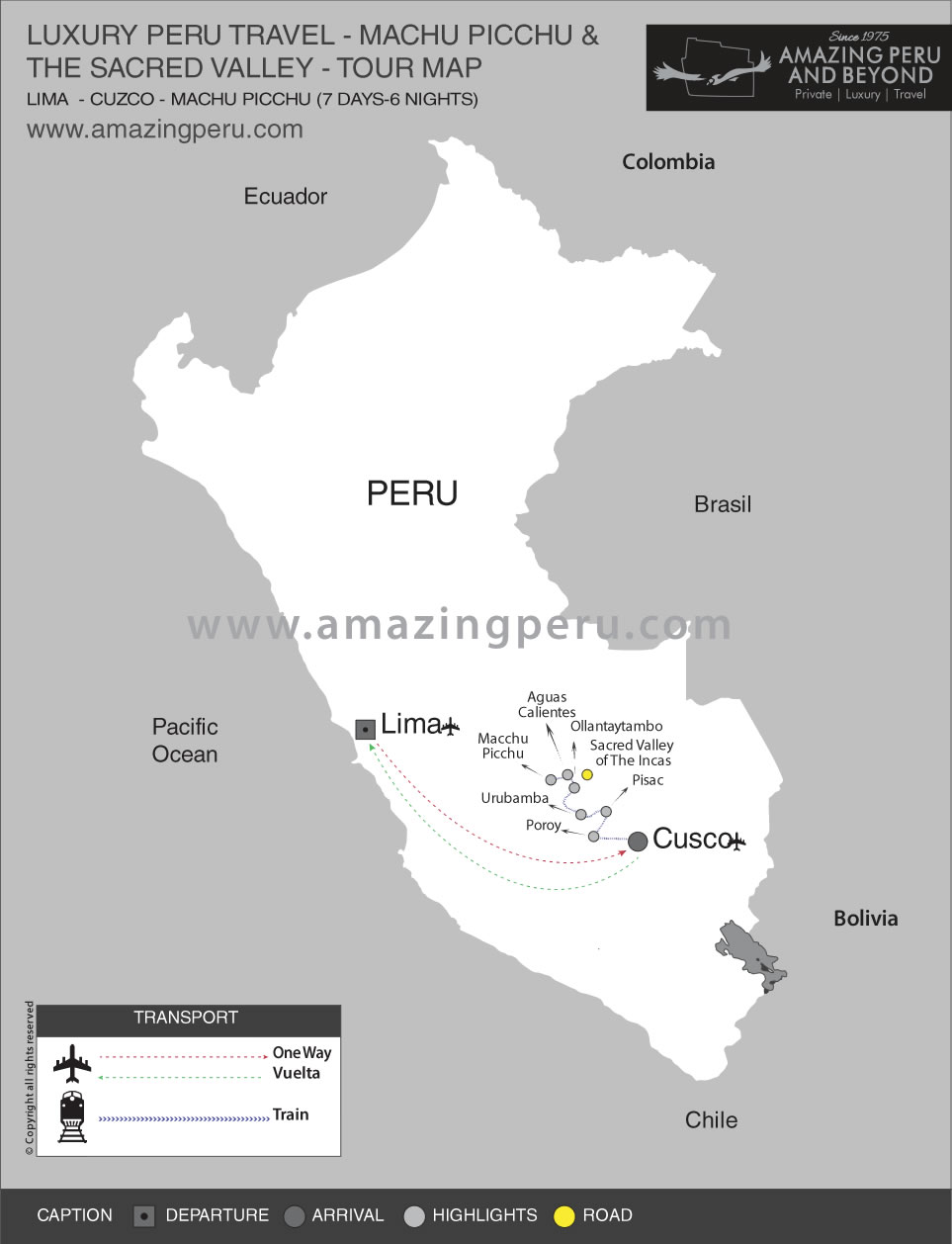 Luxury Peru Tour 5 - 7 days / 6 nights.