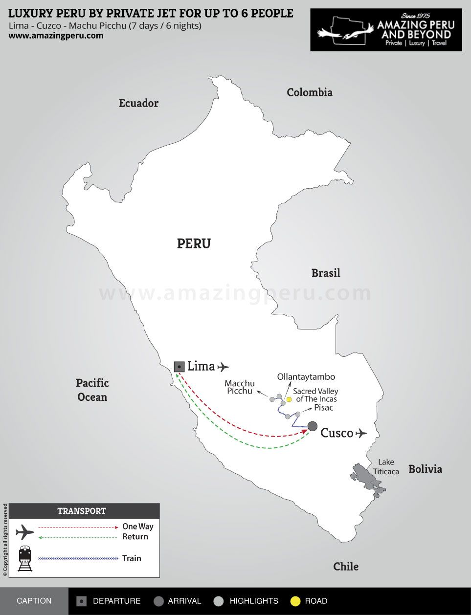 Luxury Peru by Private Jet for up to 6 People - 7 days / 6 nights.