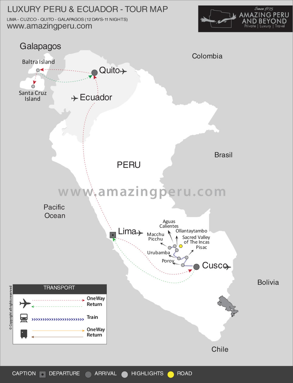 Luxury 12 Day Peru & Ecuador - 12 days / 11 nights.