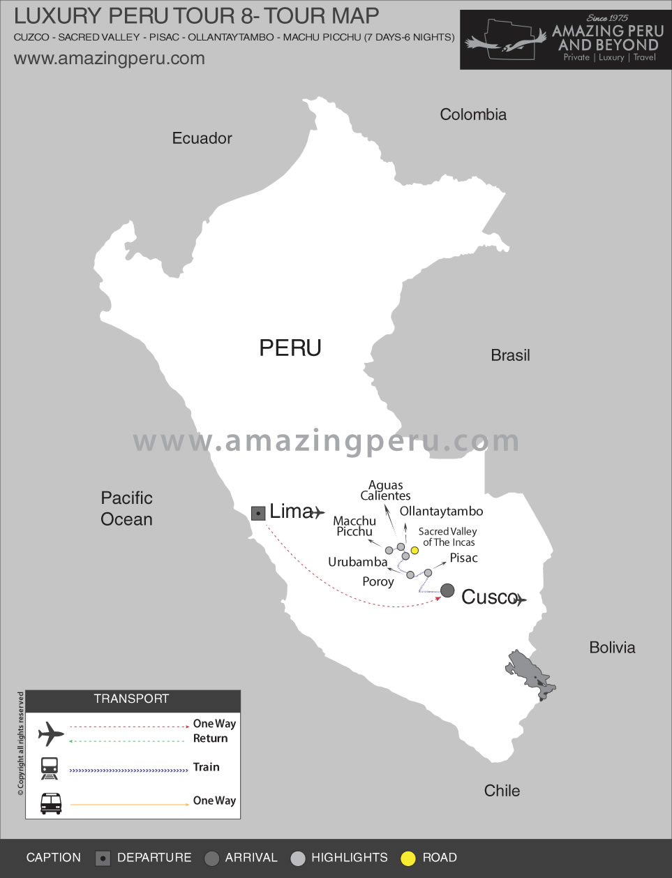 Luxury Peru Tour 8 - 7 days / 6 nights.