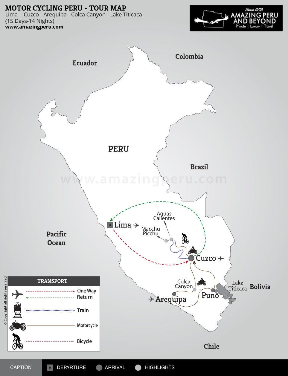 Motor Cycling Tour Around Peru 15 days - 15 days / 14 nights.