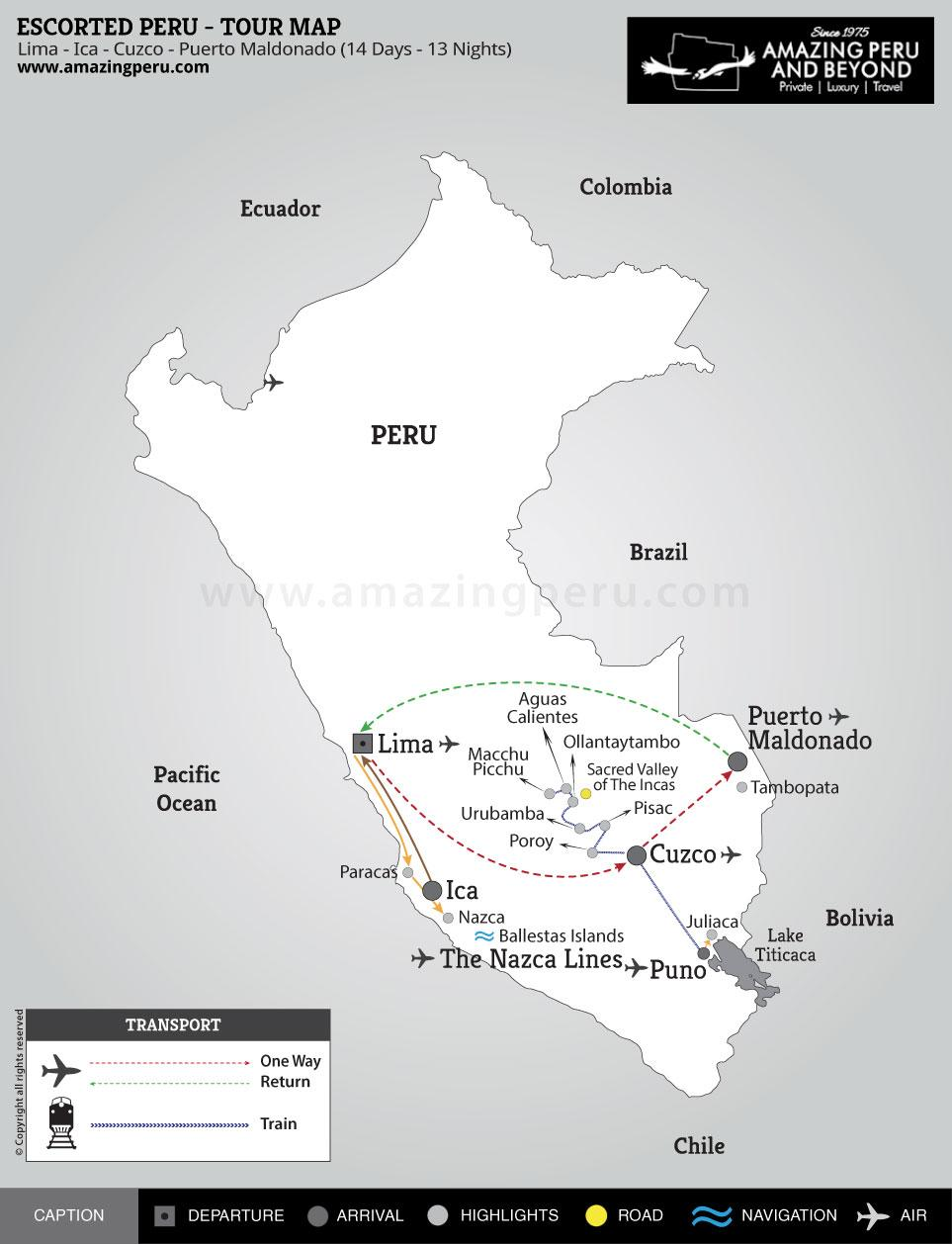 Escorted Peru Tour 4 - 14 days / 13 nights.