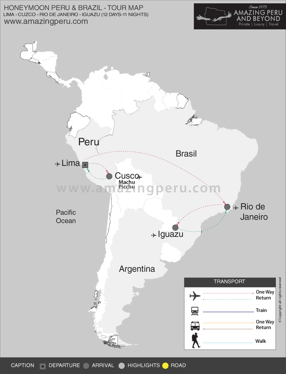 Peru Honeymoon Tour 4 Honeymoon Peru & Brazil - 12 days / 11 nights.