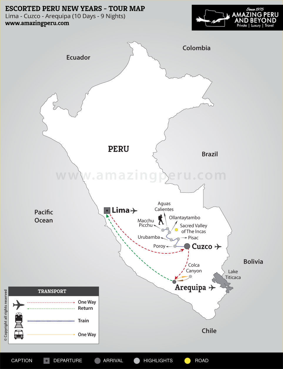2019-20 Escorted Peru New Years 2 - 10 days / 9 nights.