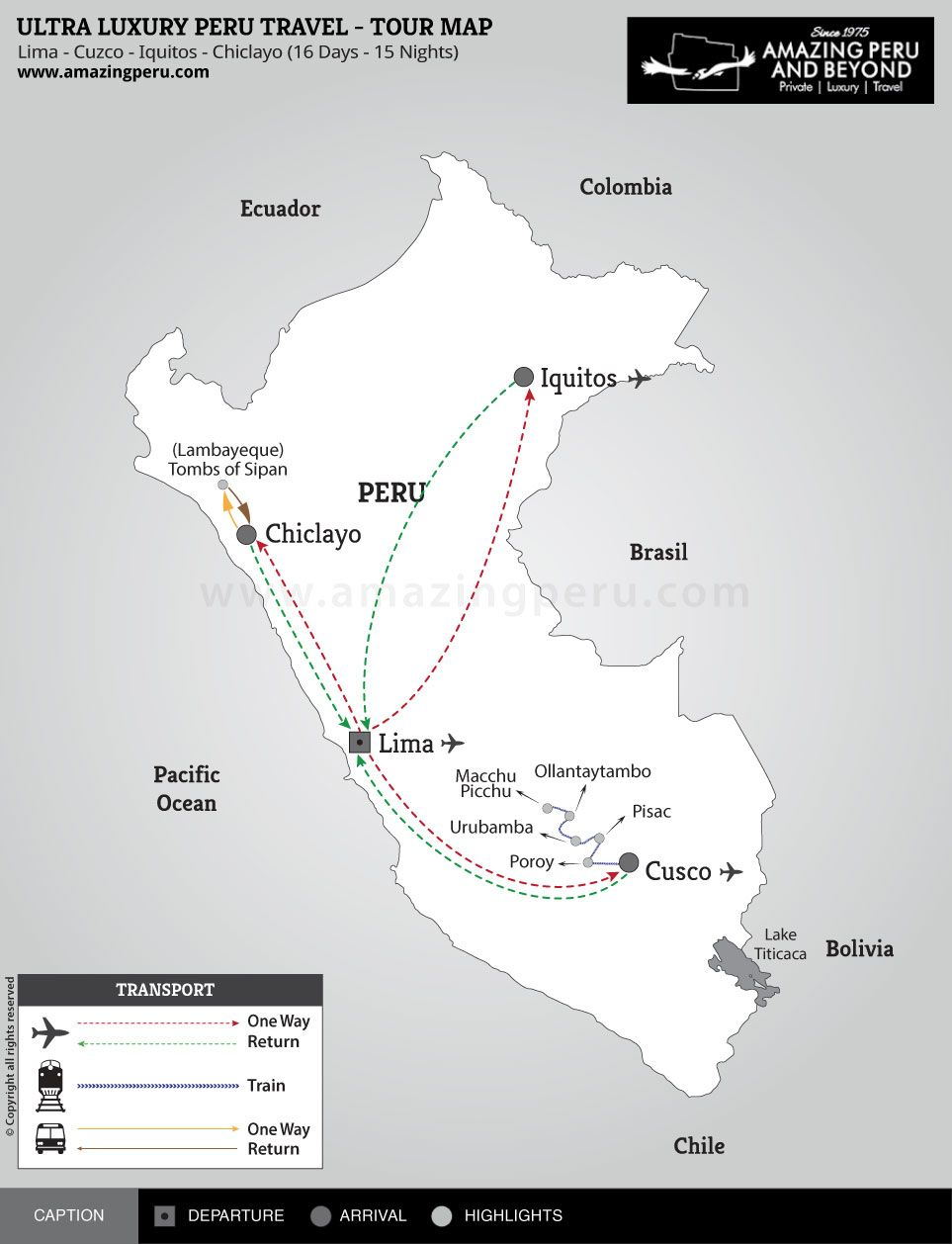 Ultra Luxury Peru Travel - A living experience - 16 days / 15 nights.