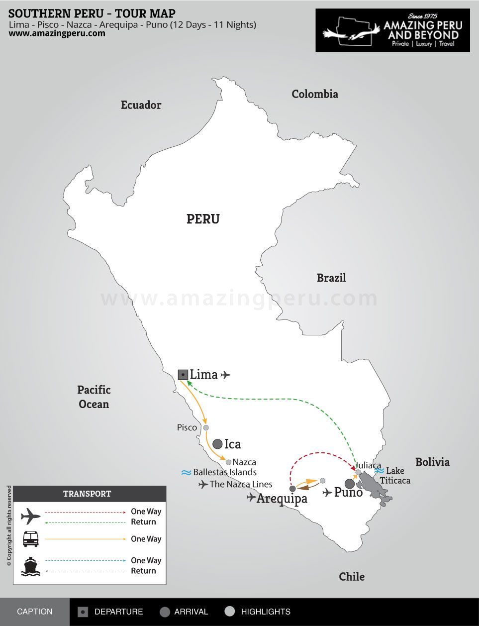 Southern Peru - 12 days / 11 nights.