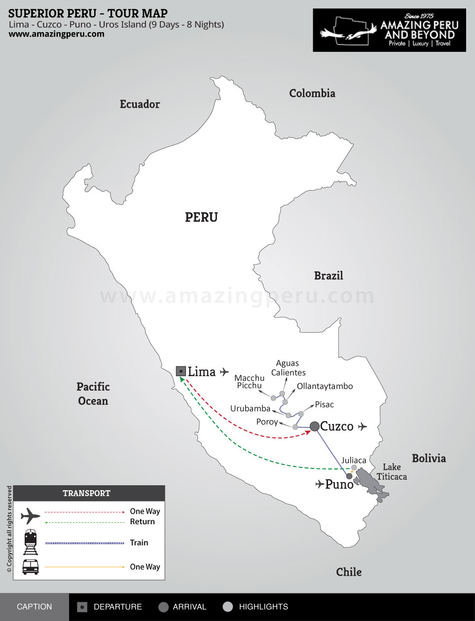 Superior Peru Tour 2 - 9 days / 8 nights.