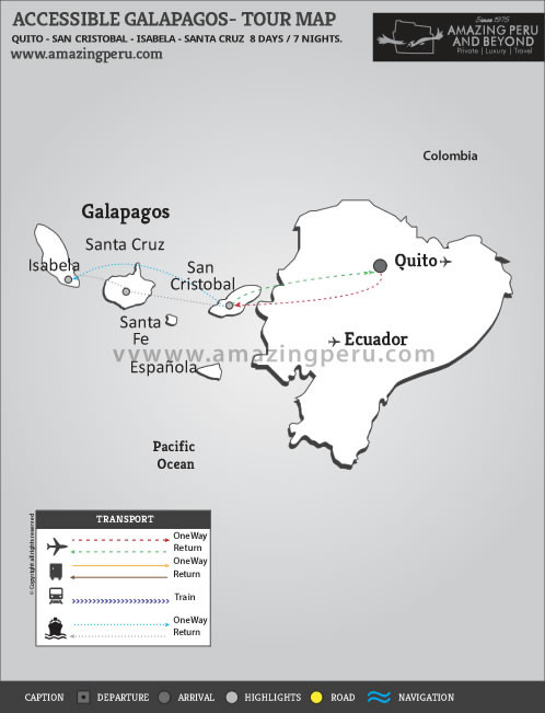 Accessible Galapagos - 8 days / 7 nights.