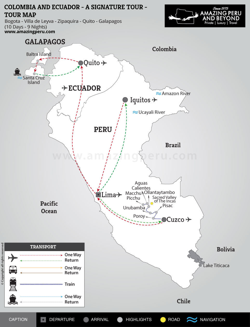 Colombia and Ecuador - A signature Tour - 10 days / 9 nights.
