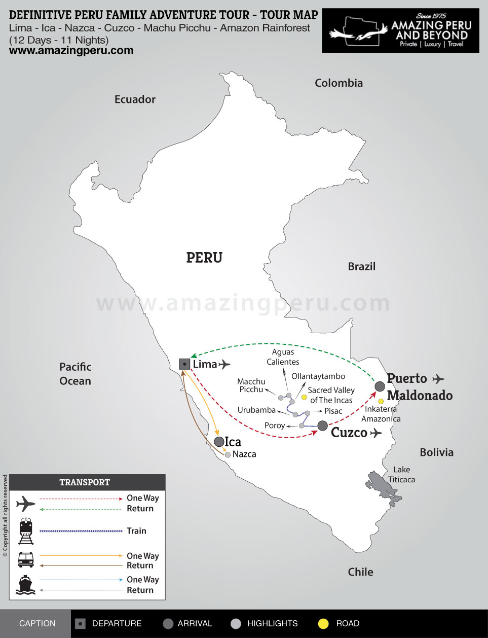 Definitive Peru Family Adventure Tour - 12 days / 11 nights.