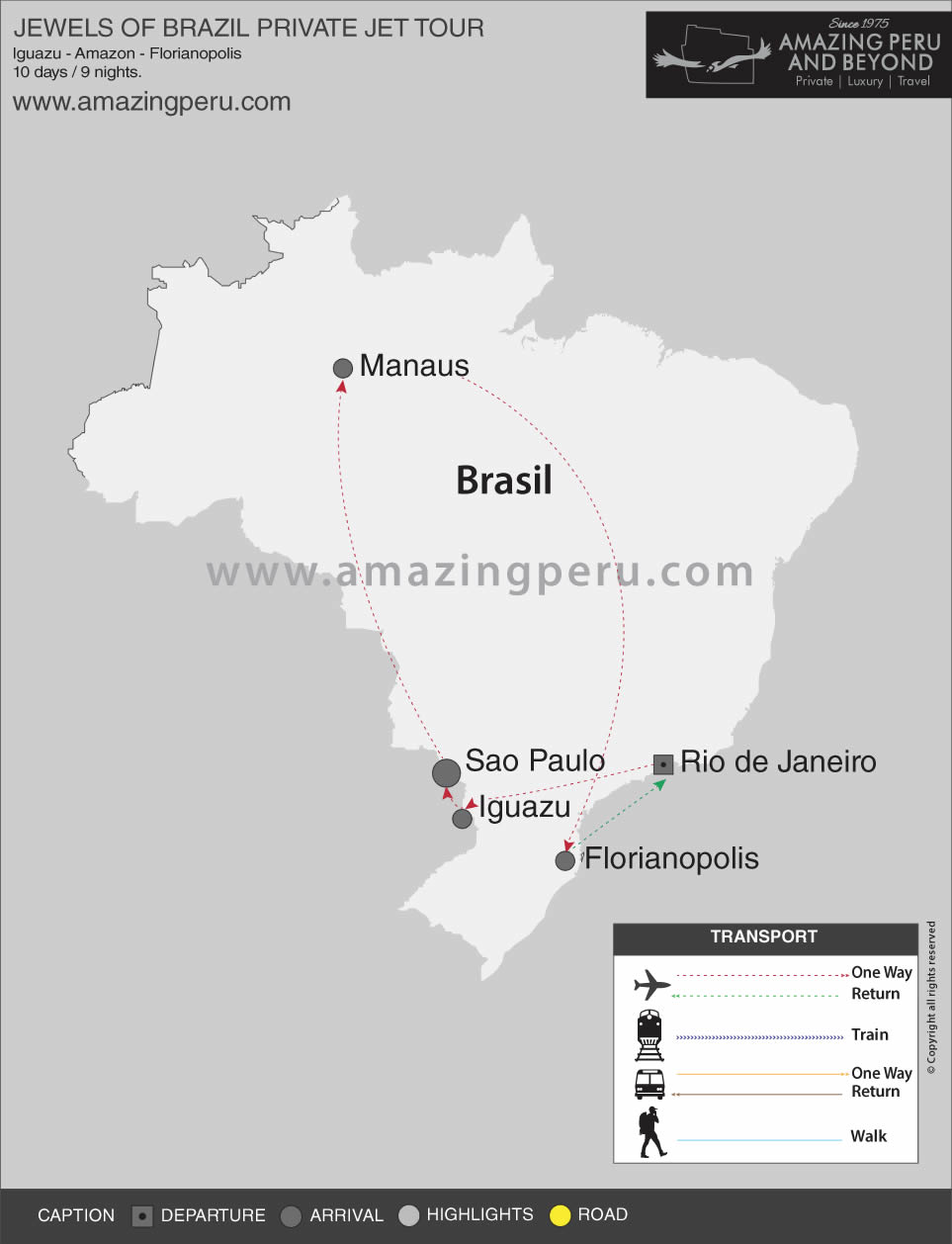 Jewels of Brazil Private Jet Tour - 10 days / 9 nights.