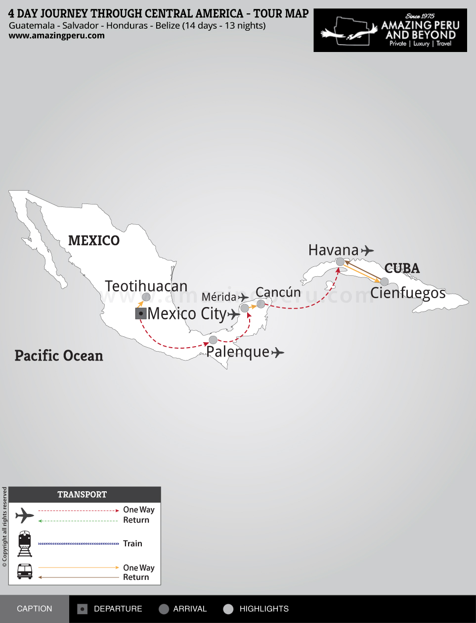 14 day Journey through Central America - 14 days / 13 nights.