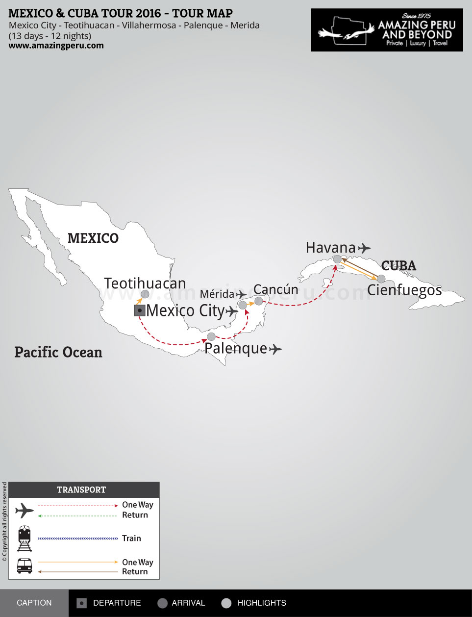 Mexico & Cuba Tour 2017 - 13 days / 12 nights.