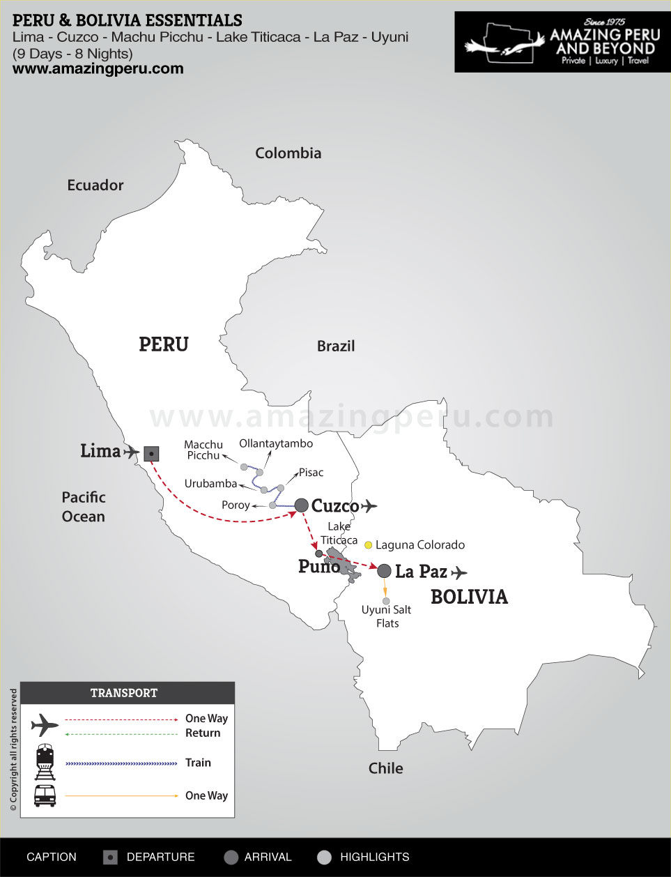 Peru & Bolivia Essentials - 9 days / 8 nights.