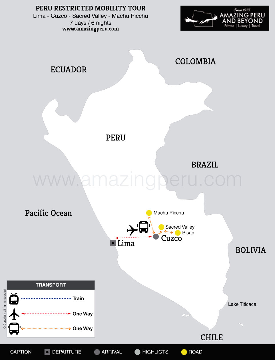2020 Peru Restricted Mobility Tour - 7 days / 6 nights.