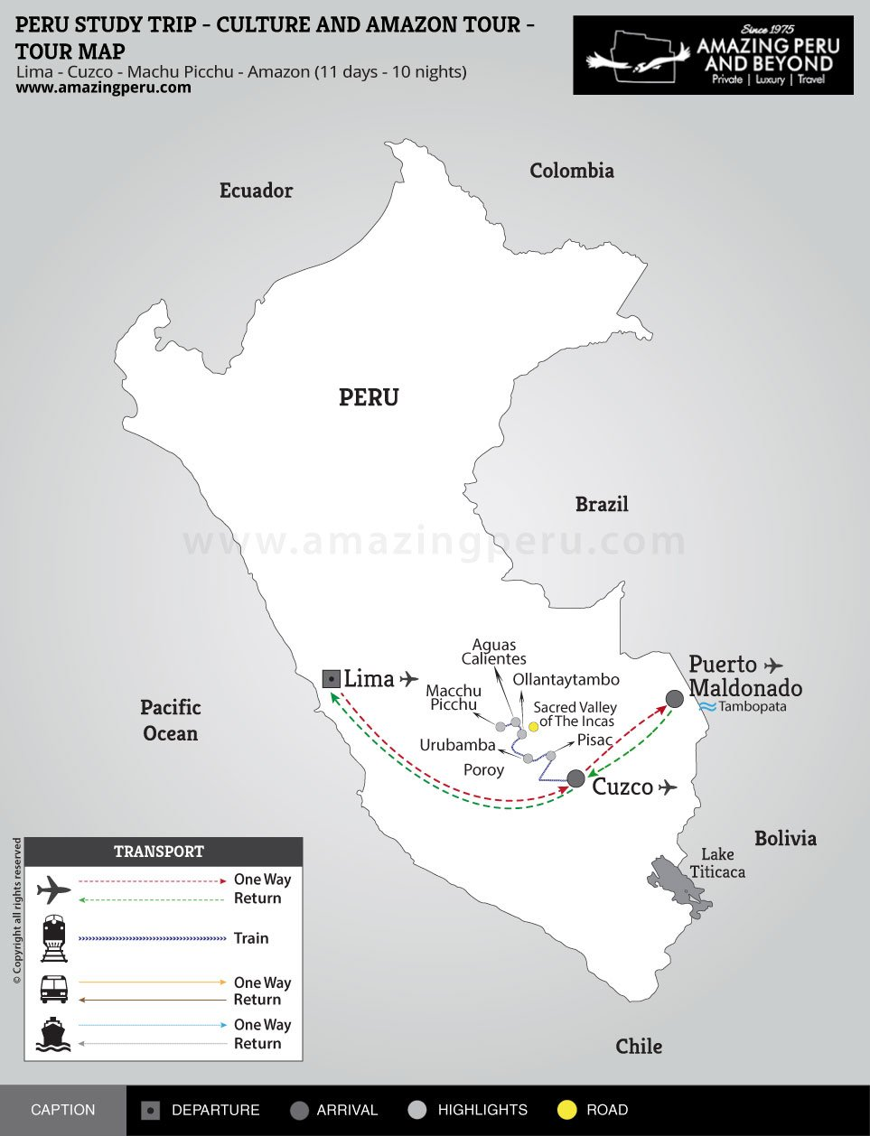 Peru Study Trip - Culture and Amazon Tour - 11 days / 10 nights.