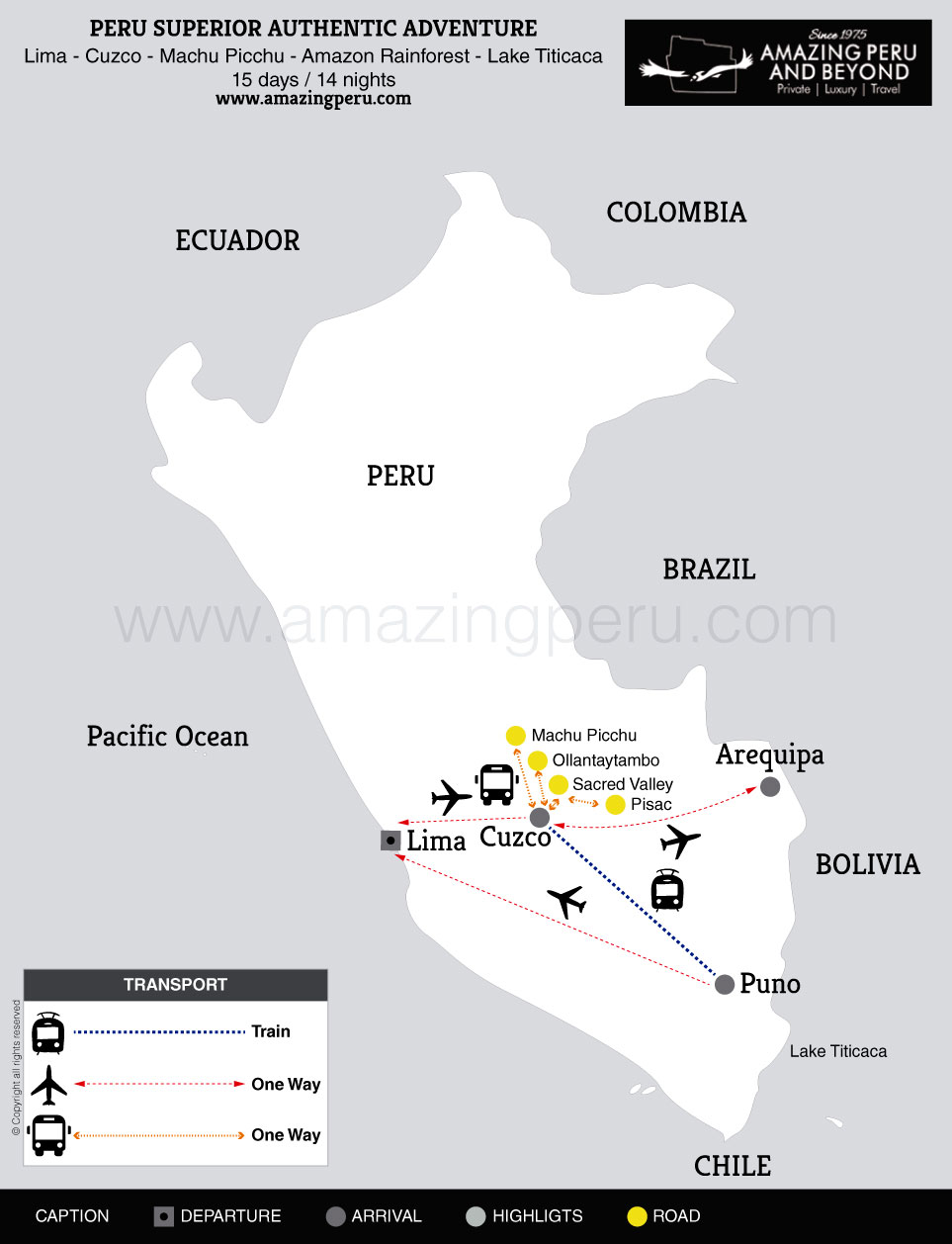2021 Peru Superior Authentic Adventure - 15 days / 14 nights.