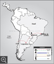 tour map: Chile, Argentina & Brazil