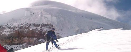 Escorted Fixed departure Tours <br />Climbing Cotopaxi